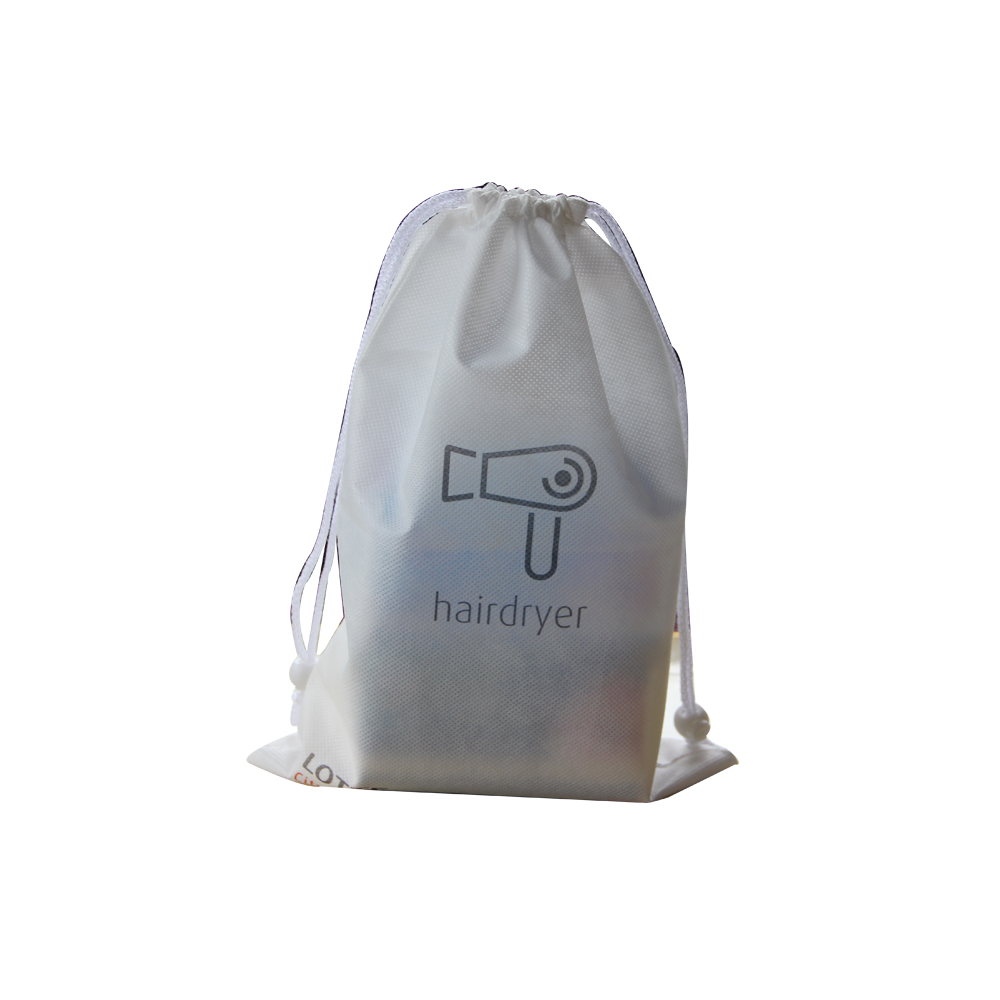 Custom logo hotel hair dryer bag cheap drawstring bag made in Yiwu