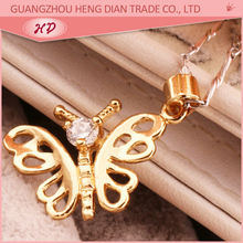 2015 Fashion Designs Butterfly shape metal best friend forever pendant