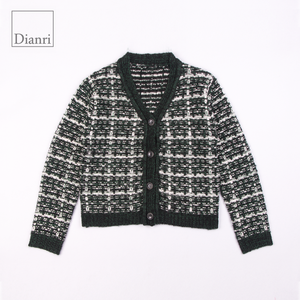 woman jacket with buttons knit cardigan