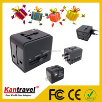 JS-148 Corporate gift business promotion Multiple Usb Travel Adapter With USA/UK/AUS/EURO Plug