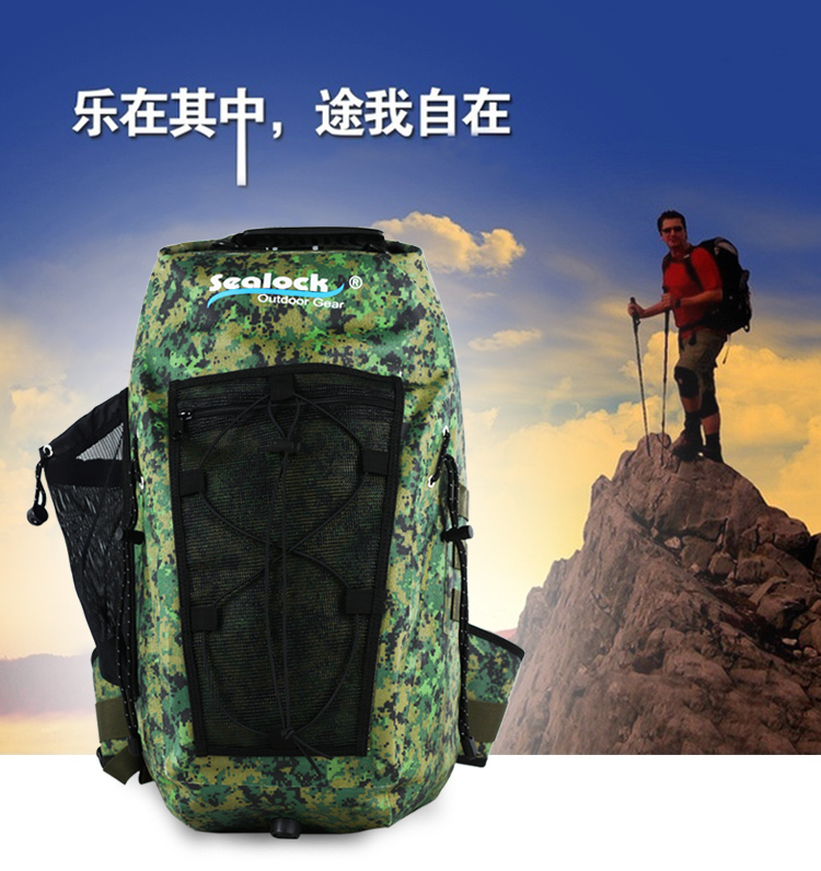 2018 Hot fashion Waterproof camping outdoor sport climbing drybag Backpack