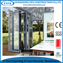 China supplier Australia standard AS2047 aluminum framed glazed bi folding door with fly screen