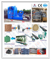 China leading manufacture biomass waste/wood sawdust/ leaves charcoal briquette machine