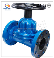 straight through type Check Valve with Saunders Diaphragm