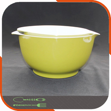 Large Plastic Dinnerware Bowl Set Melamine Mixing Bowl Green Custom Design