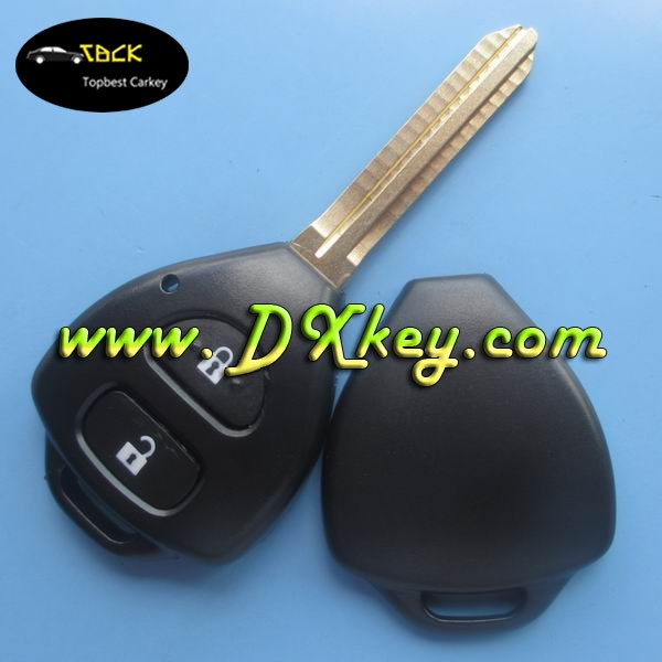 Topbest 2 buttons fake car key toy43 without logo without sitcker for toyota remote key toyota key shell Camry