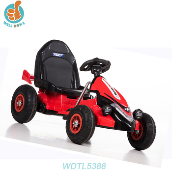 WDTL5388 Electric Children Swing Cars With Double Battery Tractor Car Seats Leather