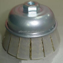 Good quality Cable Crimped Wire Cup Brush with Protective Guard