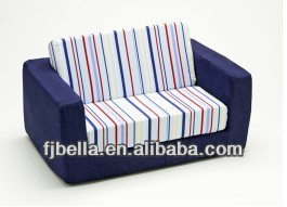 Blue Stripe Kids Flip Out Foam Sofa -Seat Foam Cushion