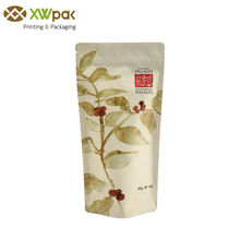 Eco Friendly Food Kraft Paper Pouch Tea Packaging Bag