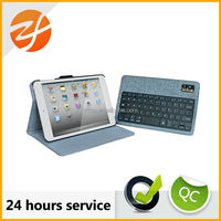 Removeable Bluetooth Keyboard Folio Leather Stand Case For iPad Mini 2 Cover wireless bluetooth keyboard
