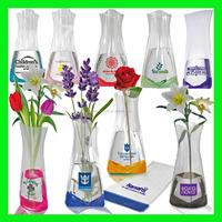 PVC plastic foldable flower vase for gift and promotion OEM logo