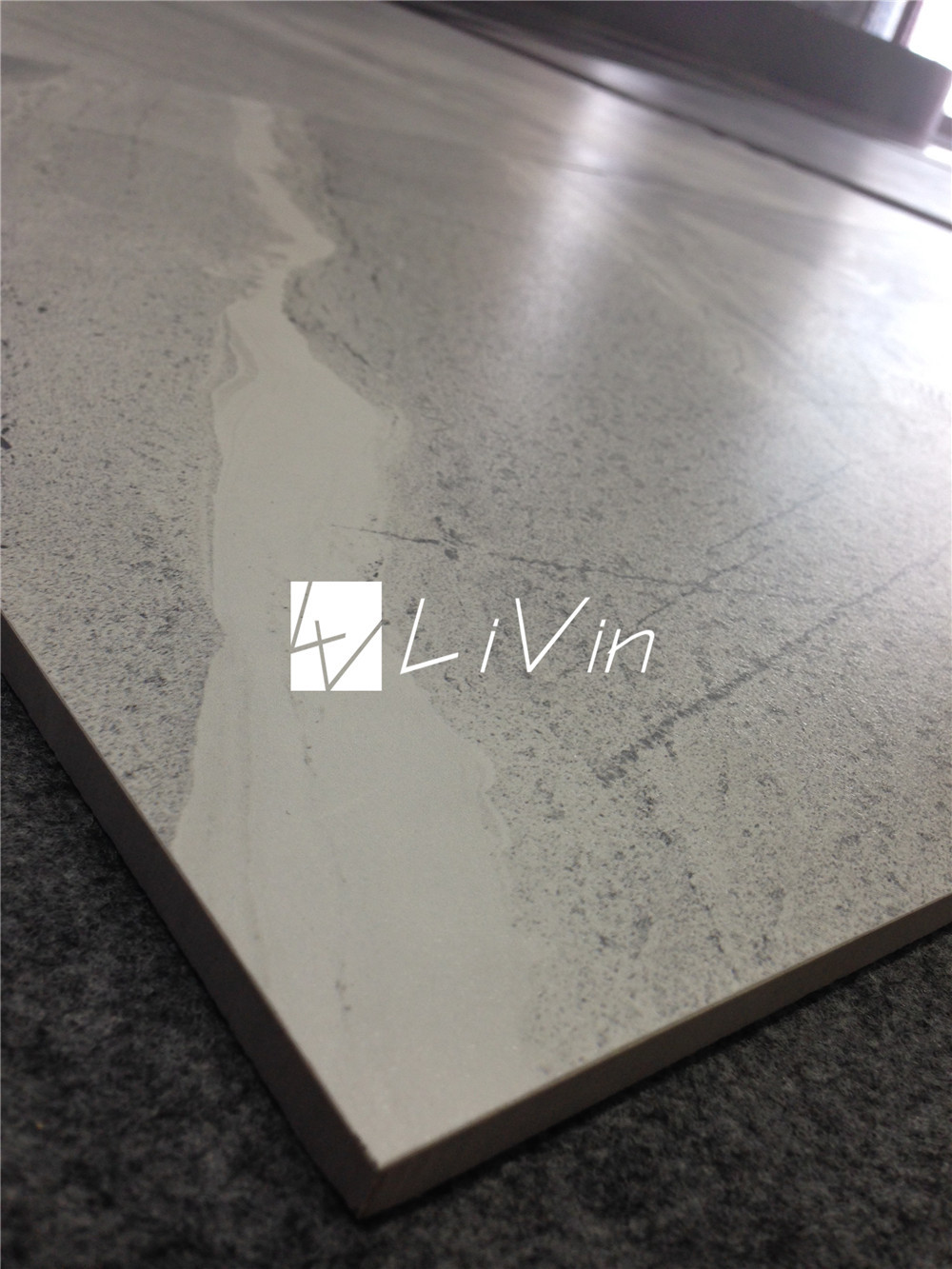 Porcelain polished floor tiles