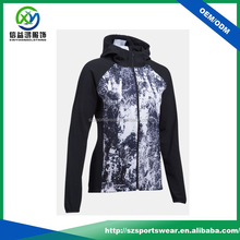 High quality sublimation jacket material ladies casual sports wear