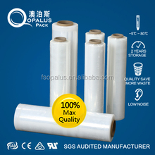 Lldpe pet plastic strapping stretch film jumbo roll for packing