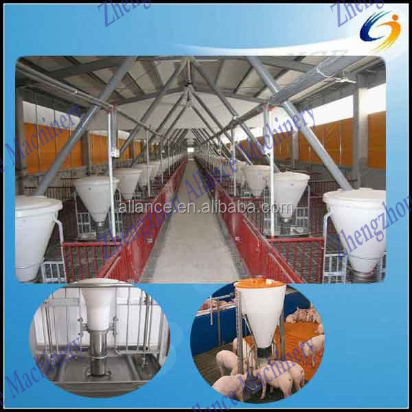 2014 Customized design automatic pig feeding system for dry and wet feed