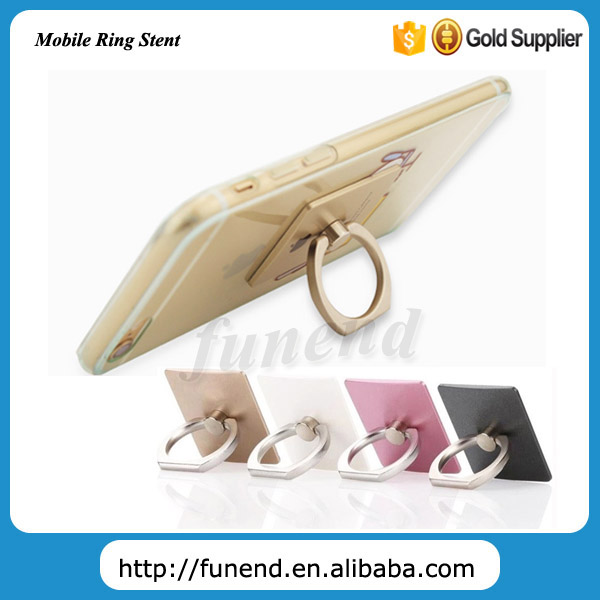 360 Degrees Rotating Metal Ring Shape Anti-slip Cell Phone Holder