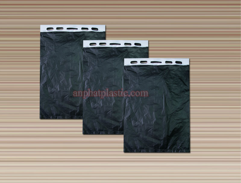 HD black blocked bag with white paper cardboard for plastic bag