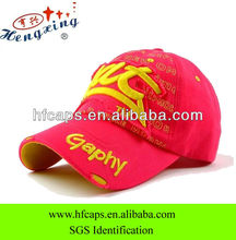 South Korea style colorful children letters embroidered baseball cap