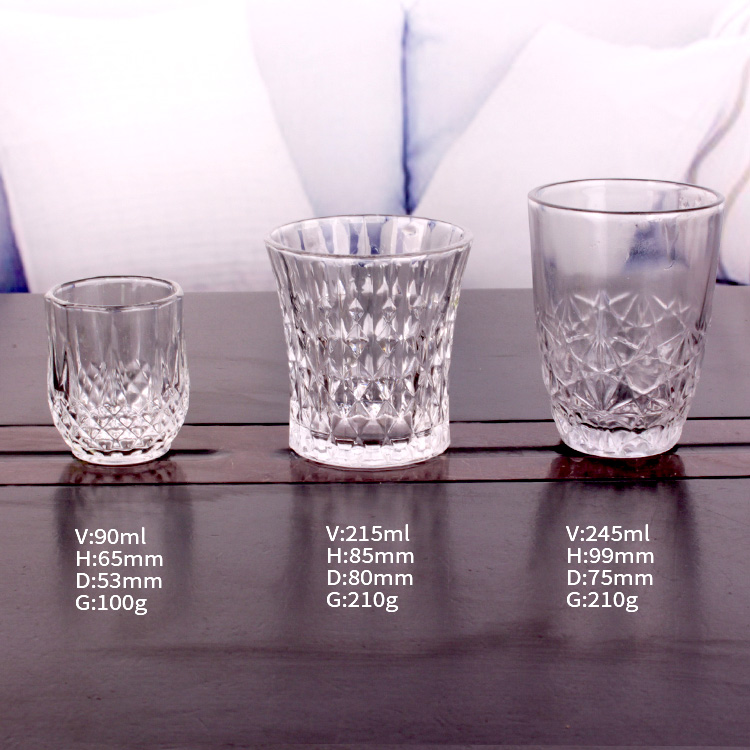 190ml 230ml 6oz 8oz glass tea wine cup
