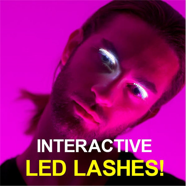 Sound Interactive Flashing Eye Lashes LED lashes For Club Halloween Masquerade