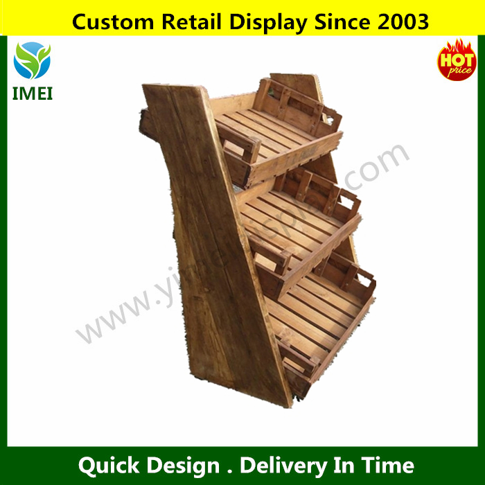 food safe fruit and vegetable display stand custom made fruit vegetable display rack factory made YM07265