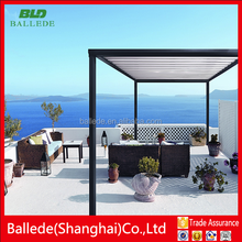 Waterproof Motorized aluminum sunshade porch louvre roof