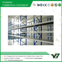 Hot sell cheapest 4 layer medium duty multi lever double deep rack, warehouse storage rack shelving systems (YB-WR-C59)
