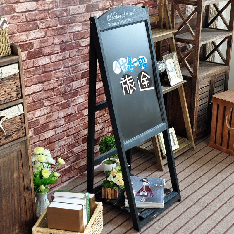 Restaurant en bois debout libre tableau noir avec support for Tableau noir restaurant