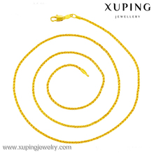 42788 xuping Wholesale copper alloy gold jewelry, cheap cuban link chain necklace