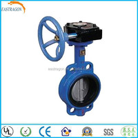 Marine Wafer Type Worm Gear Butterfly Valves PN10 DN80