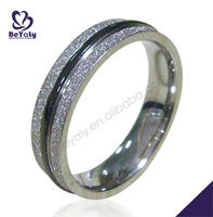 Newest stylish fashion jewelry cz stone stainless steel baseball wedding rings