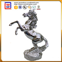 polyresin silver electroplate and electrosilvering crazy horse and resin horse statues