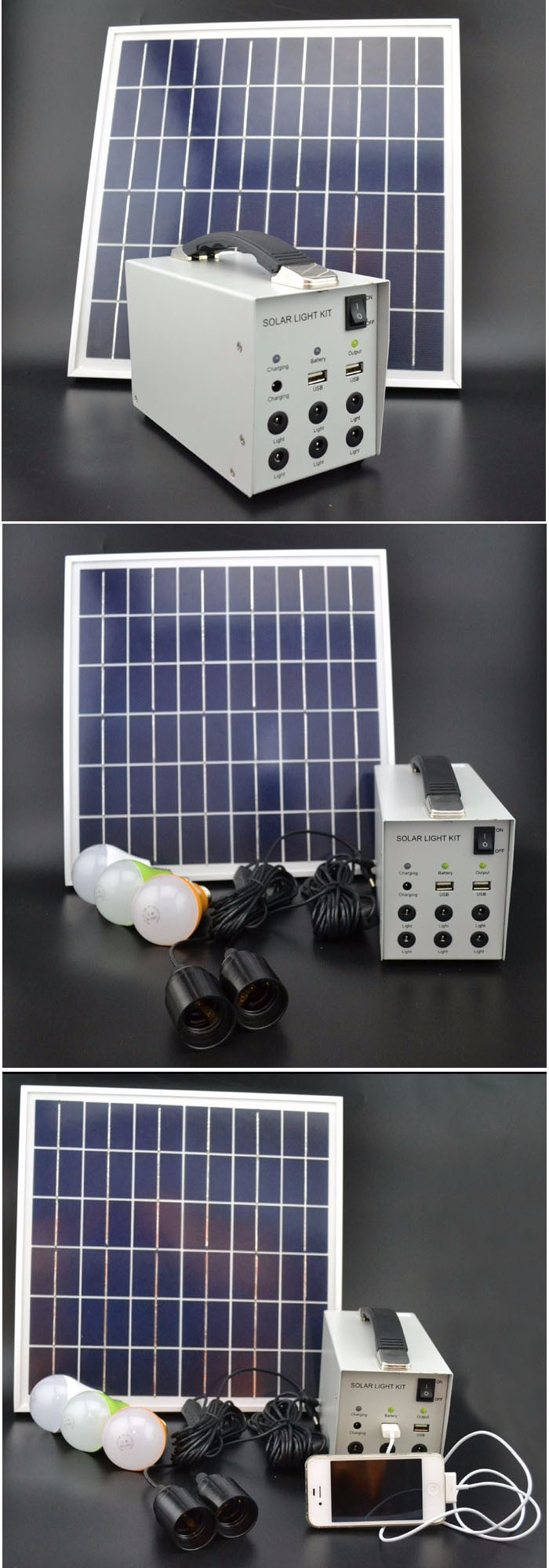 9Ah Solar System Kit, Kit Solar Panels For Home 12V 15W Led Lighting