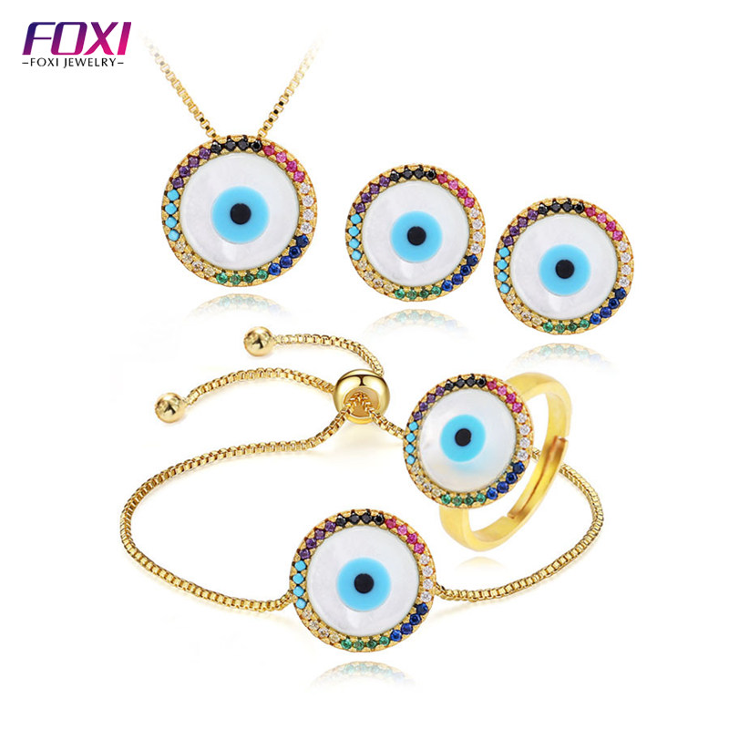Online Whole Gold Color Turkish Eye Jewelry For Las