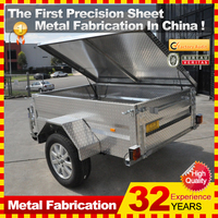 7x5 8x5 galvanized car trailer camping box