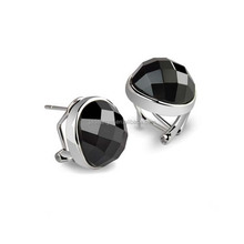 Wholesale Sterling Silver Oval Black Onyx Stud Earrings