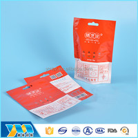 2016 Stand up custom food packaging bags with zipper pouch