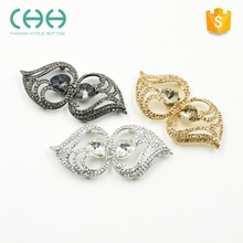 Factory sales metal leaf shaped button for overcoat outerwear