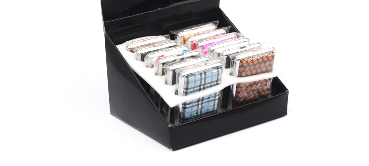 Wholesale JL-075N Fashion Fabric Pack 14 Pieces Cigarette Case Leather Slim
