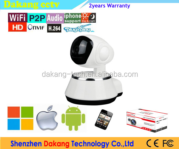 Indoor 1MP WIFI Pan&Tilt IP Camera, Mini USB Wireless PT Home Security Camera