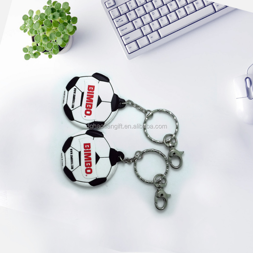 Promotional/advertising silicone keychain football related gift