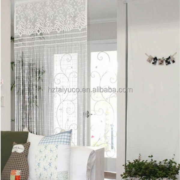 Fancy Sexy New Goods Lace Strip Curtain Jacquard Sheer Blackout Embroidery Curtain