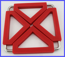 New Fashion Design Silicone Stainless Steel Silicone Folding Trivet