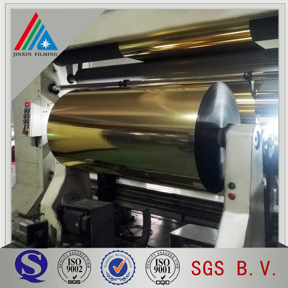 Gold aluminum metalized pet film For metallic yarn