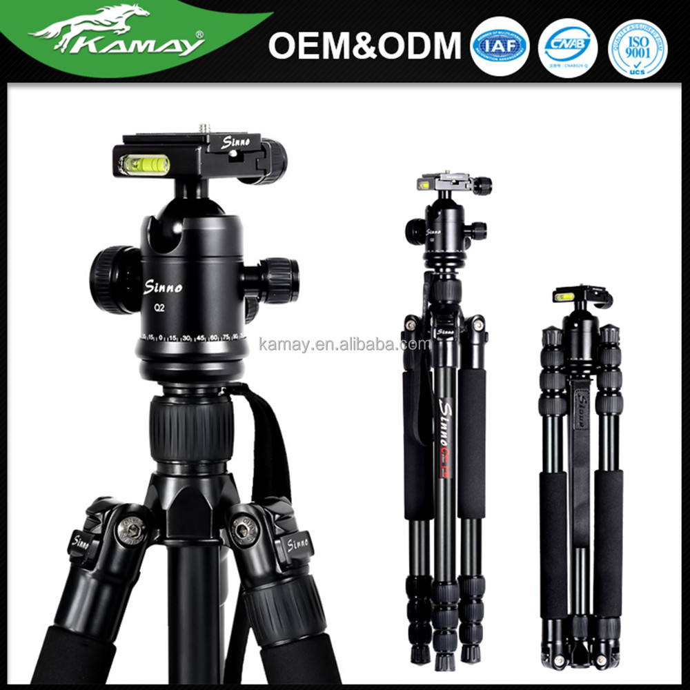 Manufacture OEM travel camera gorillapod 4 sections aluminum tube dslr tripod