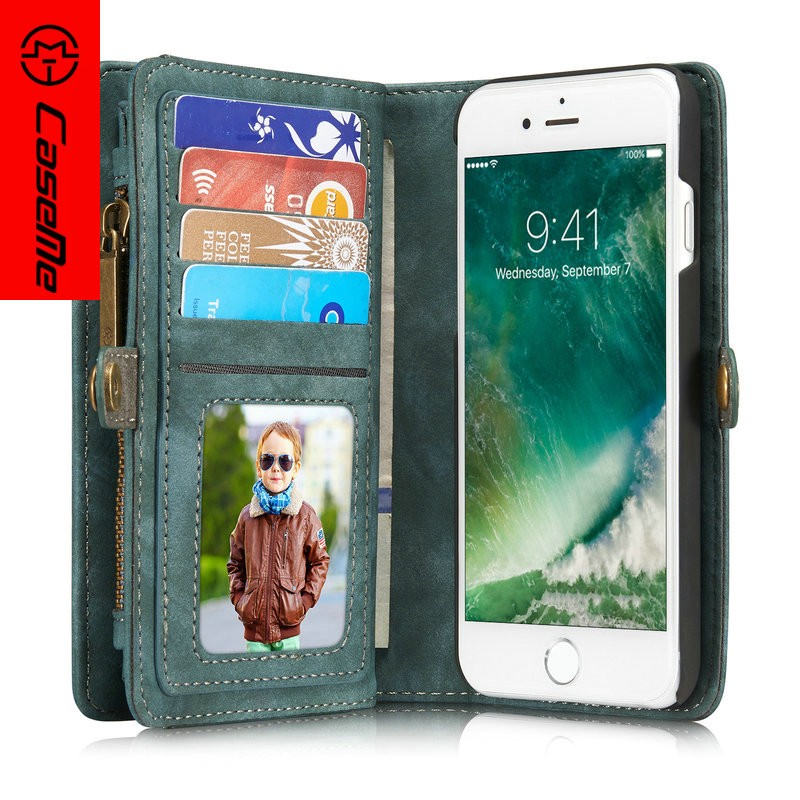 2016 Wallet leather case for i phone 7 case CaseMe brand original case