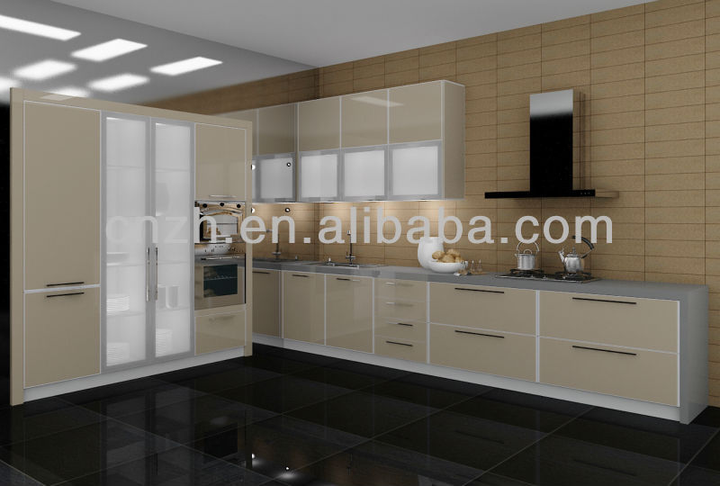 European style modern high glossy acrylic kitchen cupboard door covers