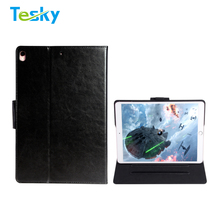 2018 New Design Full Protective Ultra Thin Folding Stand Shock Proof Folio Flip PU Leather Pad Case For iPad Pro 10.5 inch