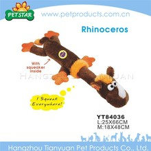 Cartoon rhinoceros electronic toy dog with squeaker inside